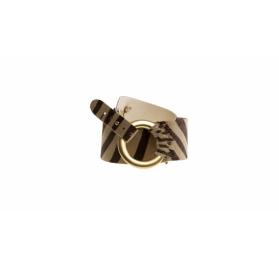 Tigergürtel aus mattgoldfarbigen Ring