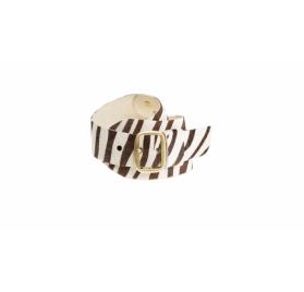 WOW Zebra Gürtel - Gold matt