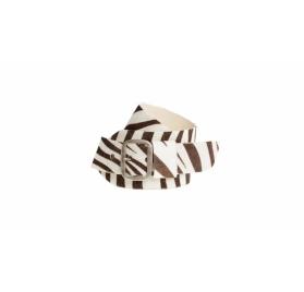 WOW Zebra Gürtel - Silber matt