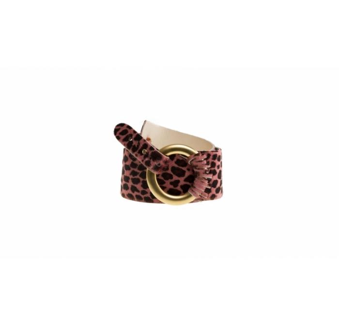 Leogürtel aus mattgoldfarbigen Ring